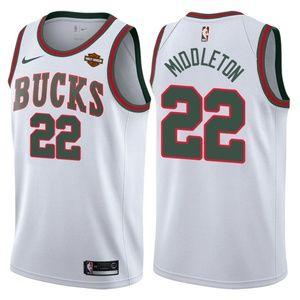 Men's Milwaukee Bucks 22 Khris Middleton Jersey.